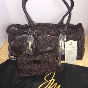 JM Designer Drop Shoulder Bag w/Small Wristlet-NWT